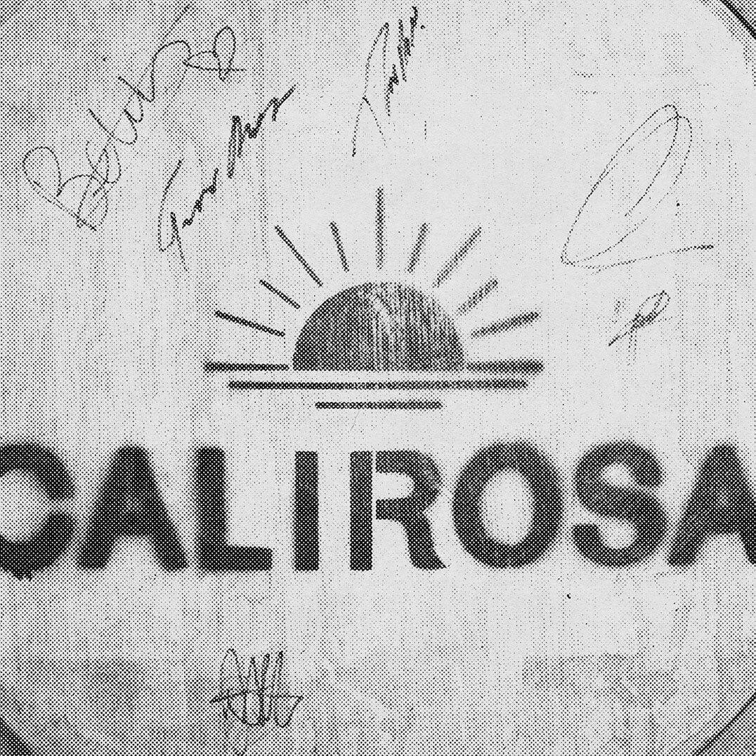 Calirosa logo stamped on red wine aged barrel