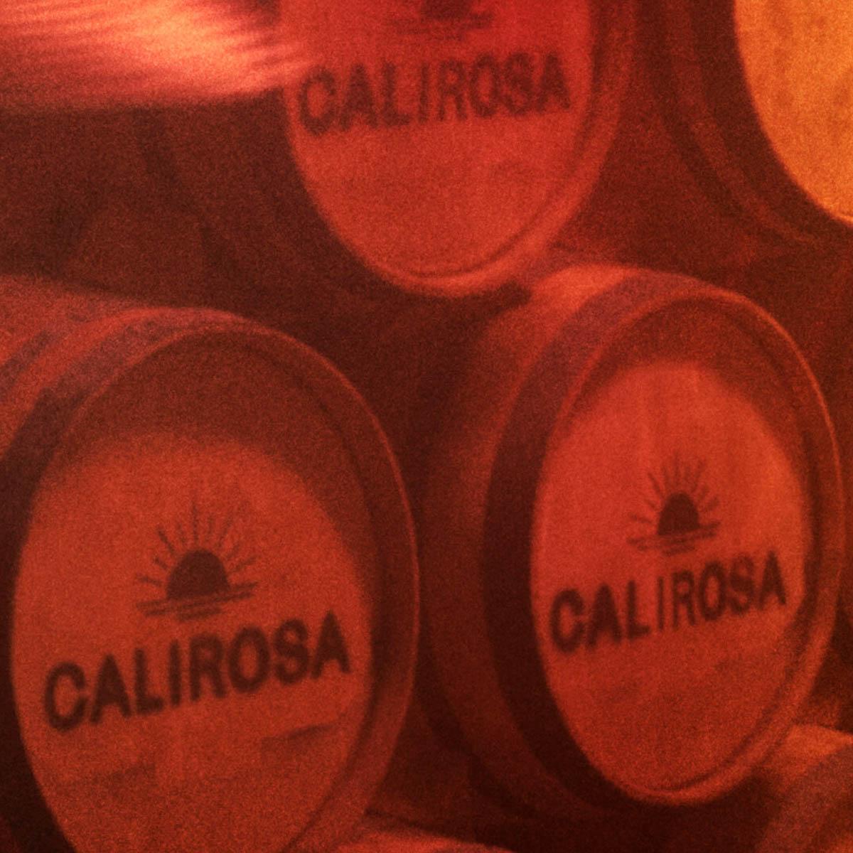 Calirosa red wine aged barrels
