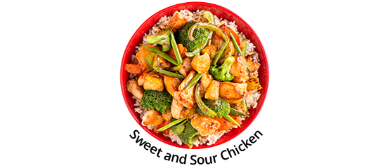 Sweet and sour chicken bowl
