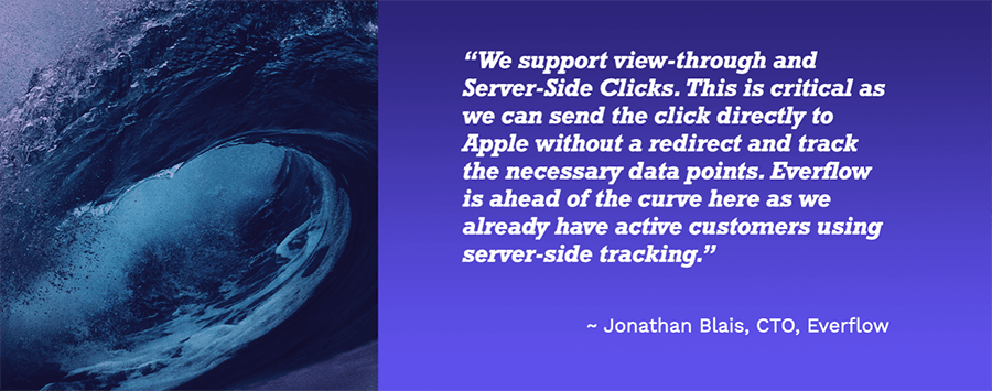 Quote from Jonathan on how we support server-side clicks.
