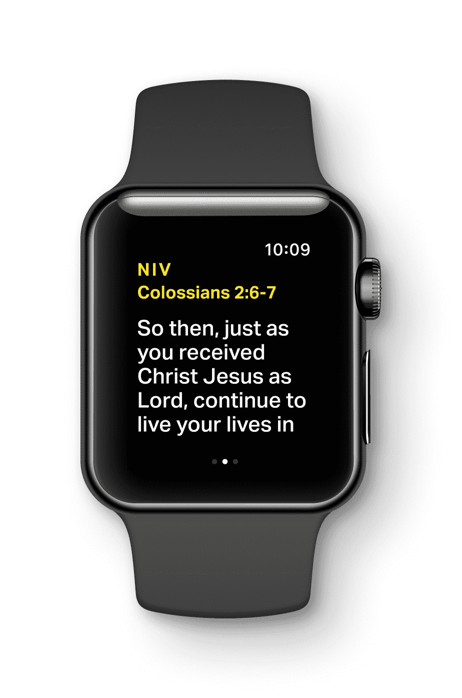 YouVersion scripture on watch