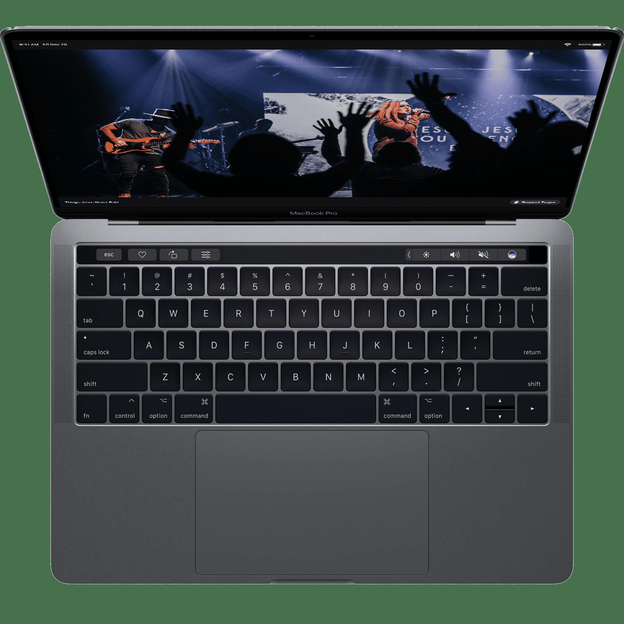 Laptop viewing Church Online Platform