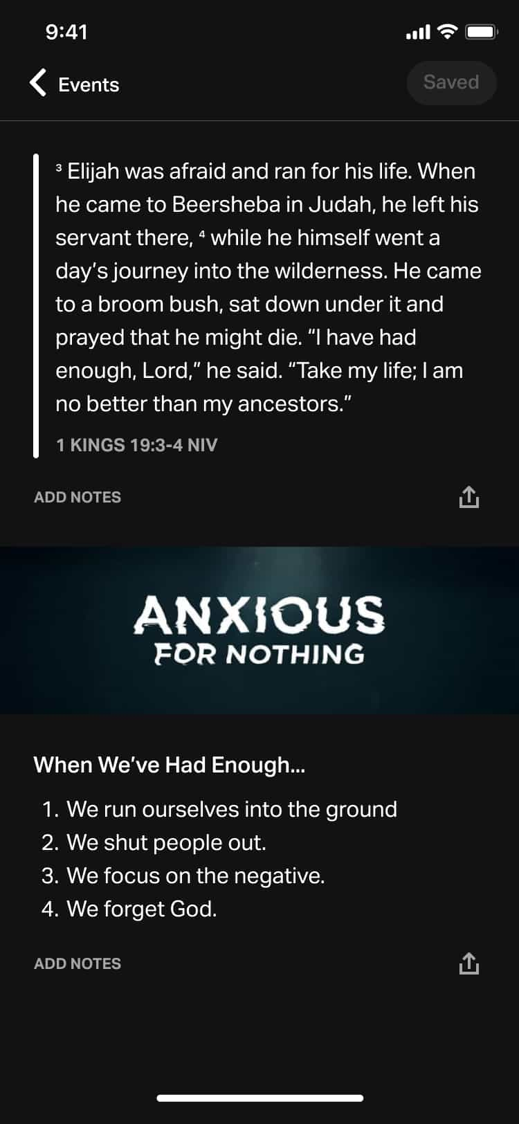 YouVersion Events scripture and plan