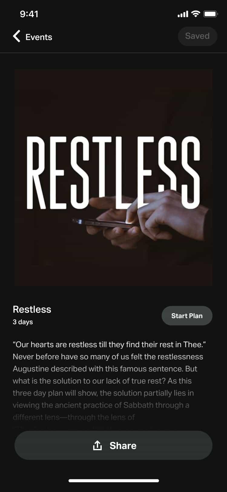Restless bible plan