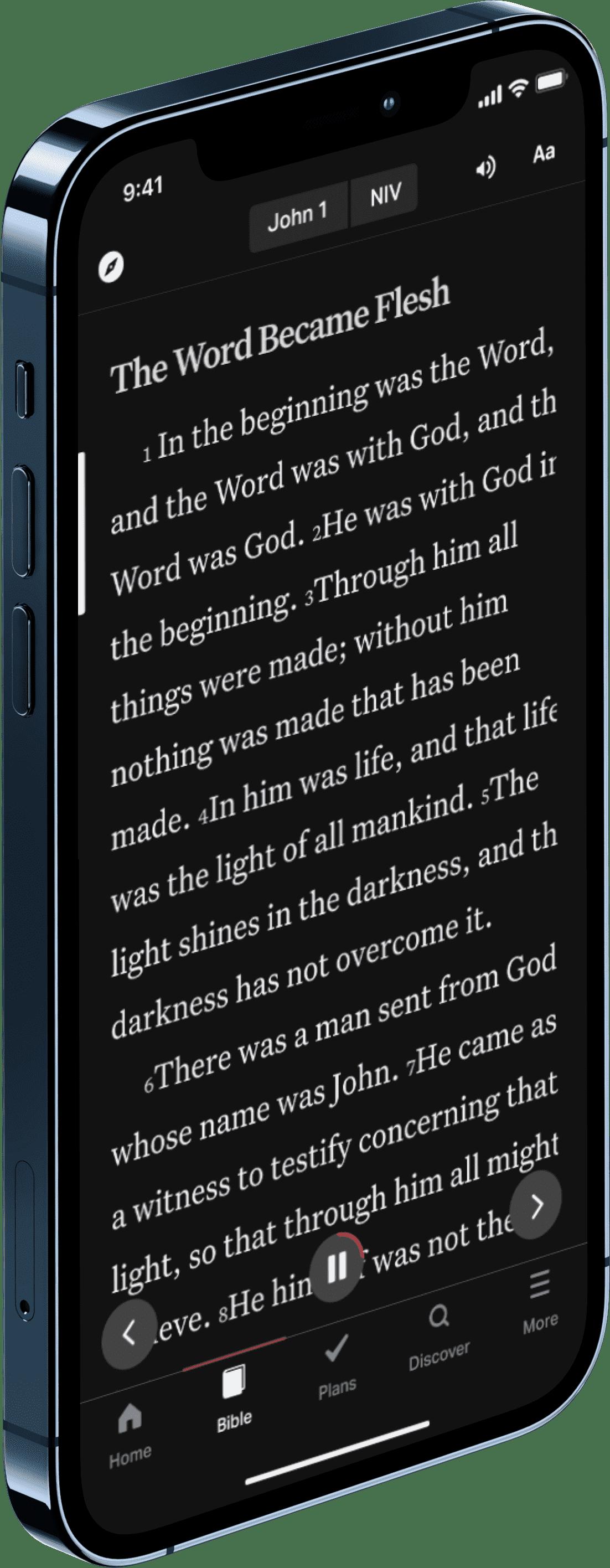 YouVersion Bible reader John 1