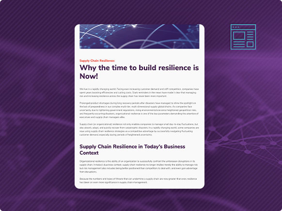Supply Chain Resilience Blog Post thumbnail