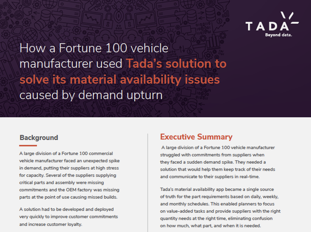 Case Study: Material Availability
