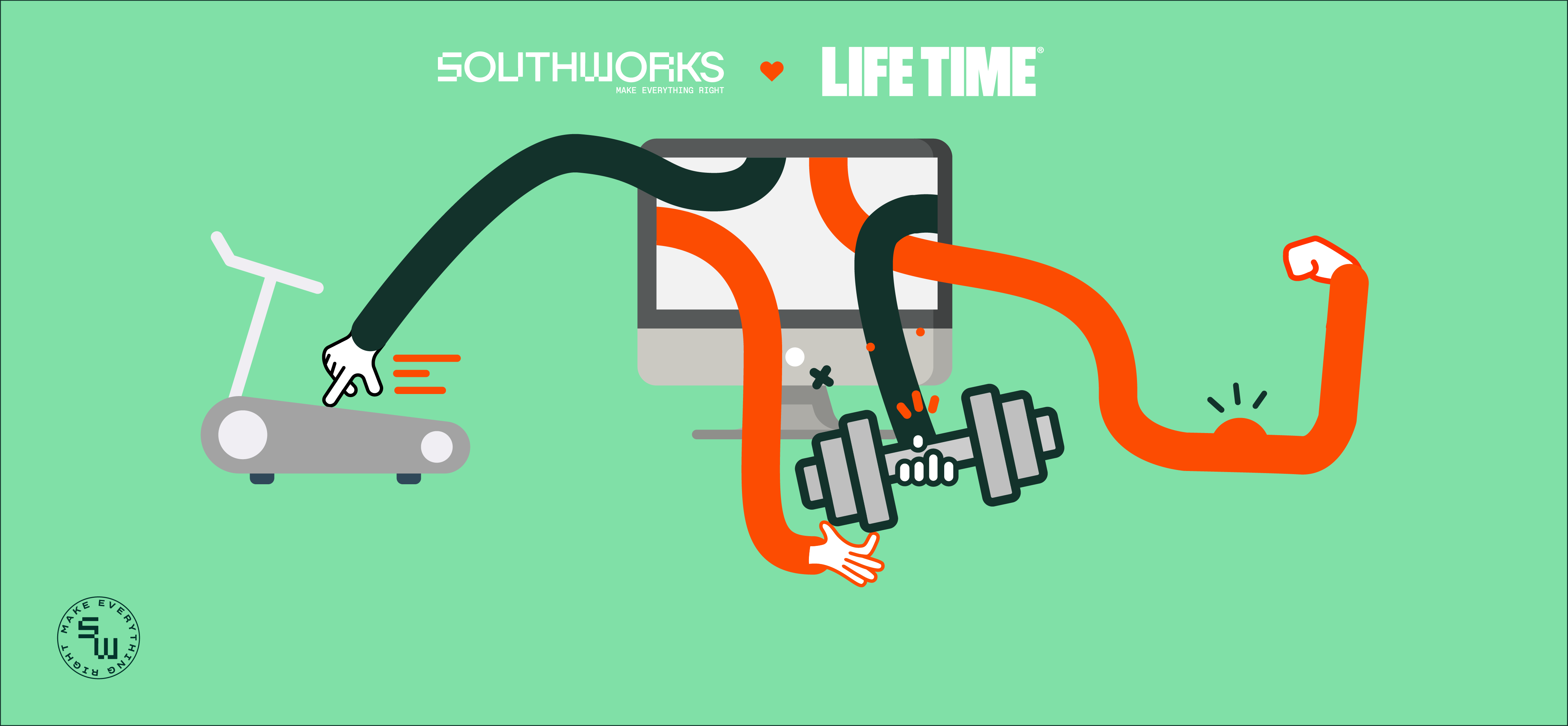 Life Time brings a personal and local experience into their members' homes in just eight weeks, thanks to a customized, high-quality video streaming solution from SOUTHWORKS.