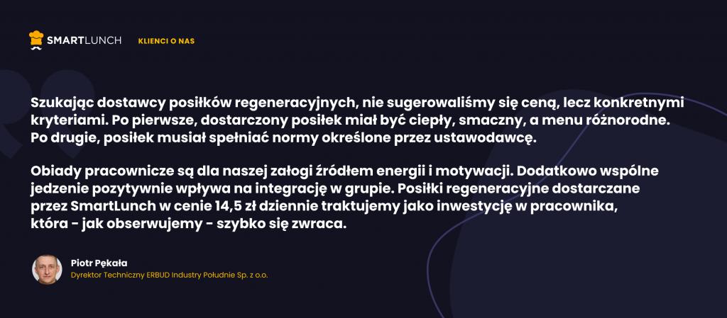 Piotr Pękala - wypowiedź dla SmartLunch
