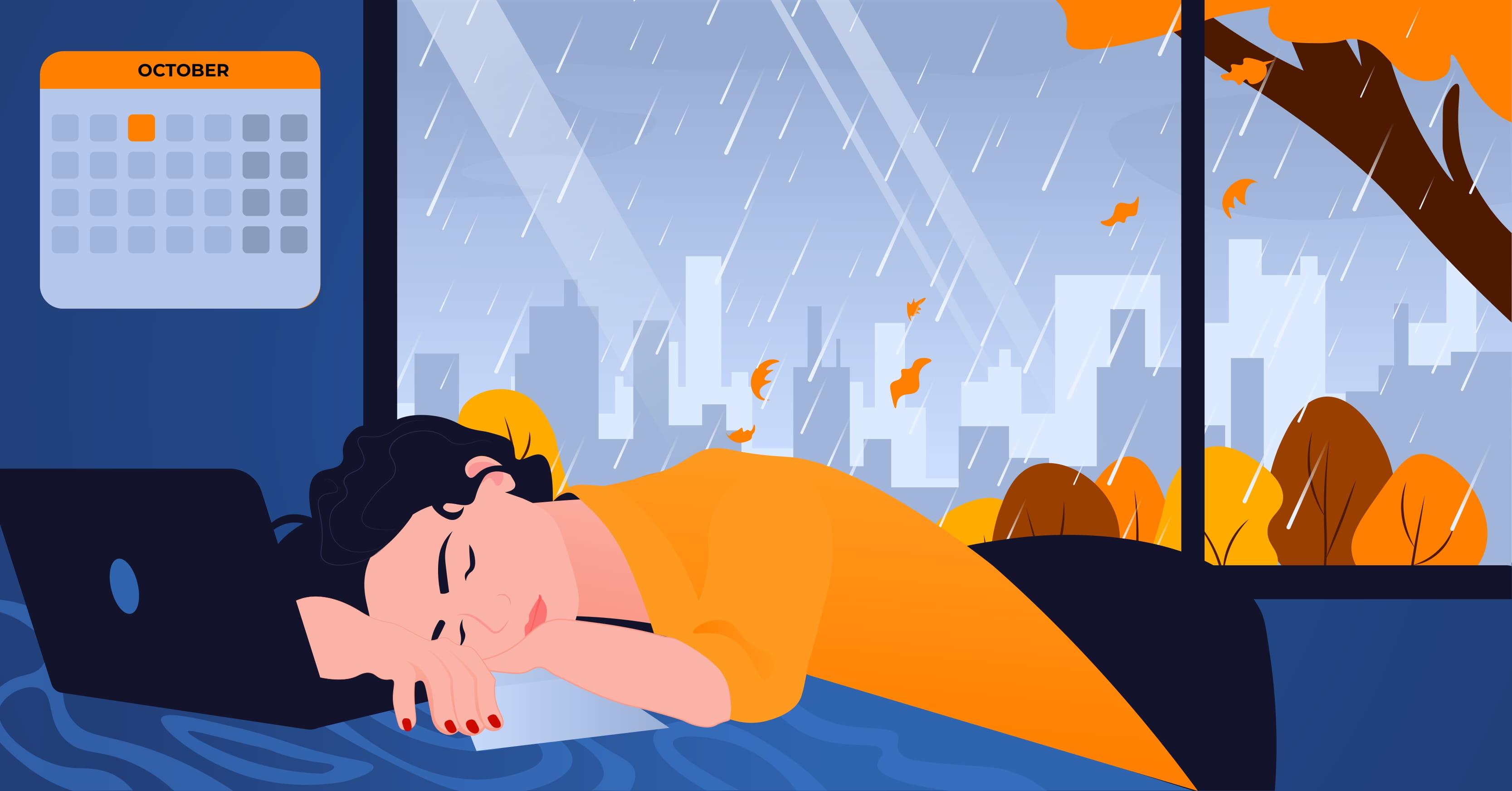 Jesienna pogoda, a efektywność w pracy
