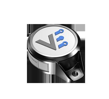 The VX BLE Beacon - 3D Front View