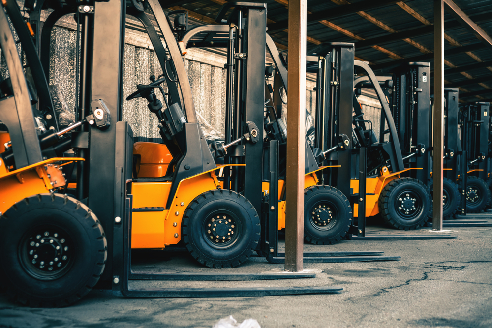 A picture of forklift assets that can be monitored