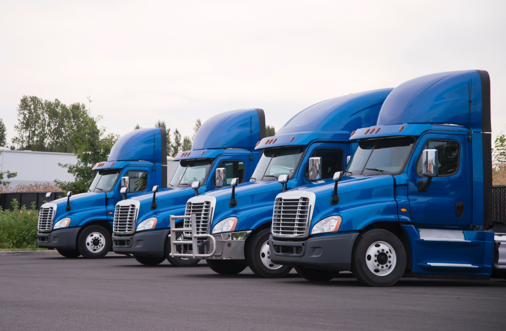 A picture of semi trucks that can be tracked