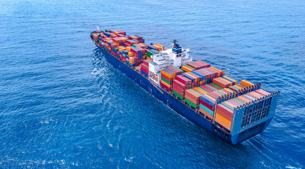 A picture of a cargo ship that can be tracked