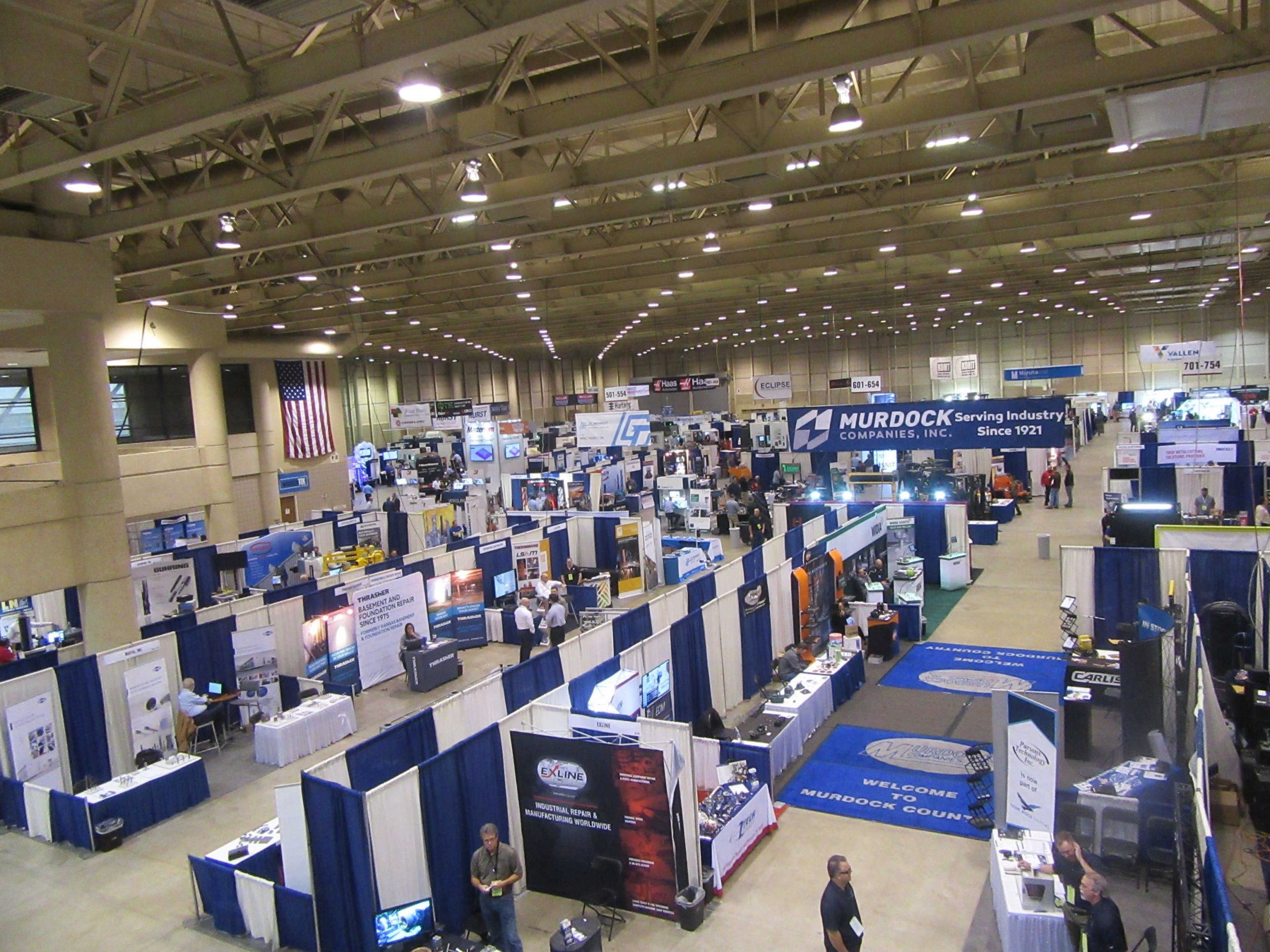 An overhead picture of the Wichita Industrial Trade Show