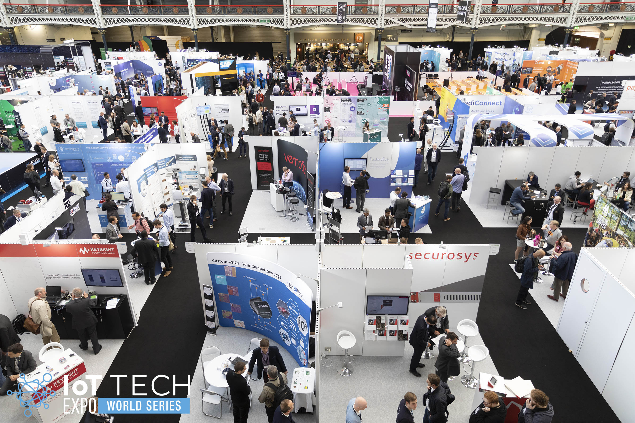 An overhead picture of the IoT Tech Expo