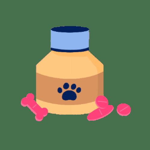 pets medications illustration.