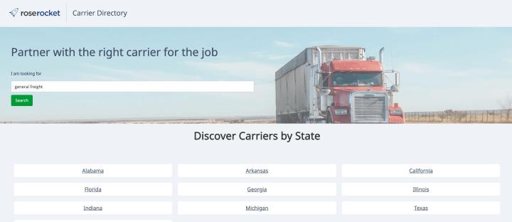 Carrier Directory App Screenshot