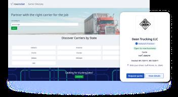 Carrier Directory app panel