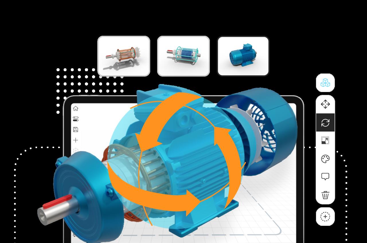 Engine 3D model in JigSpace App