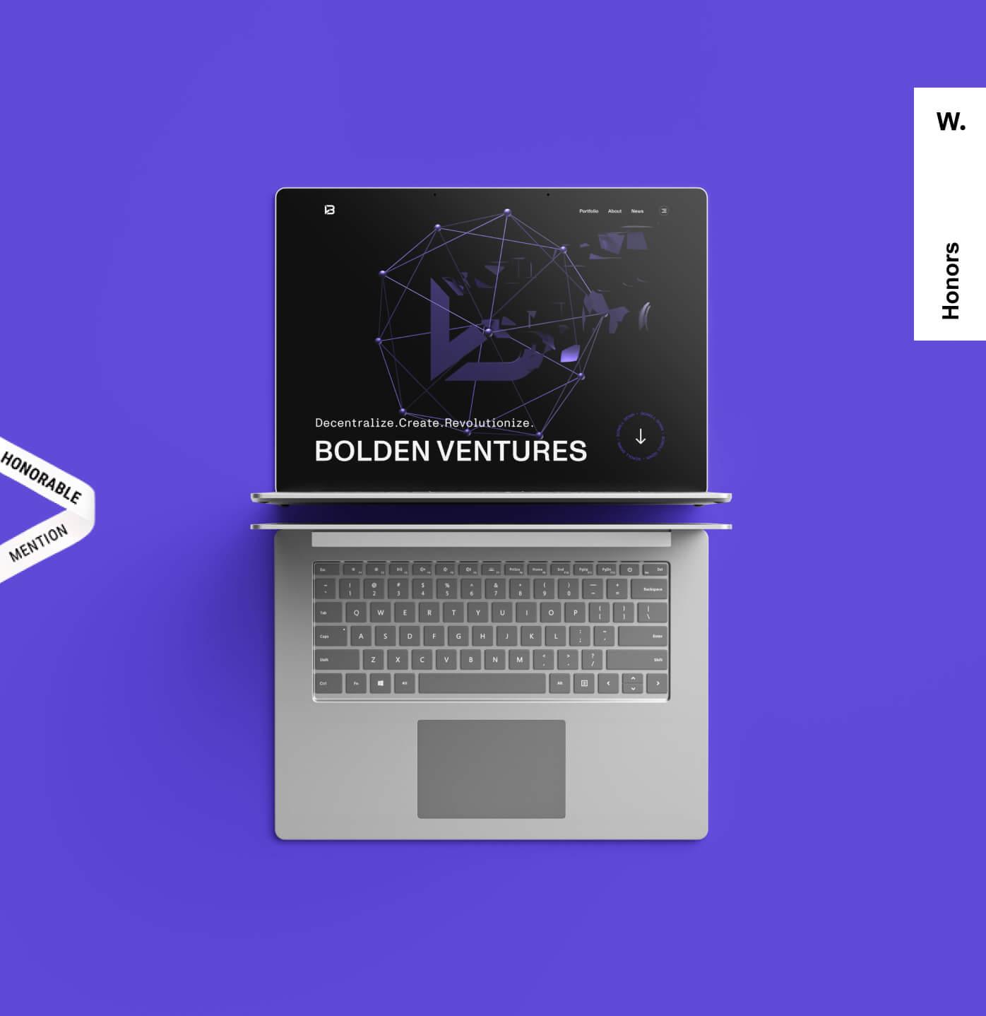 Bolden Ventures branding and website.