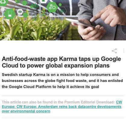 Anti-food-waste app Karma taps up Google Cloud to power global expansion plans