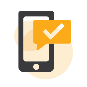 Text message icon.