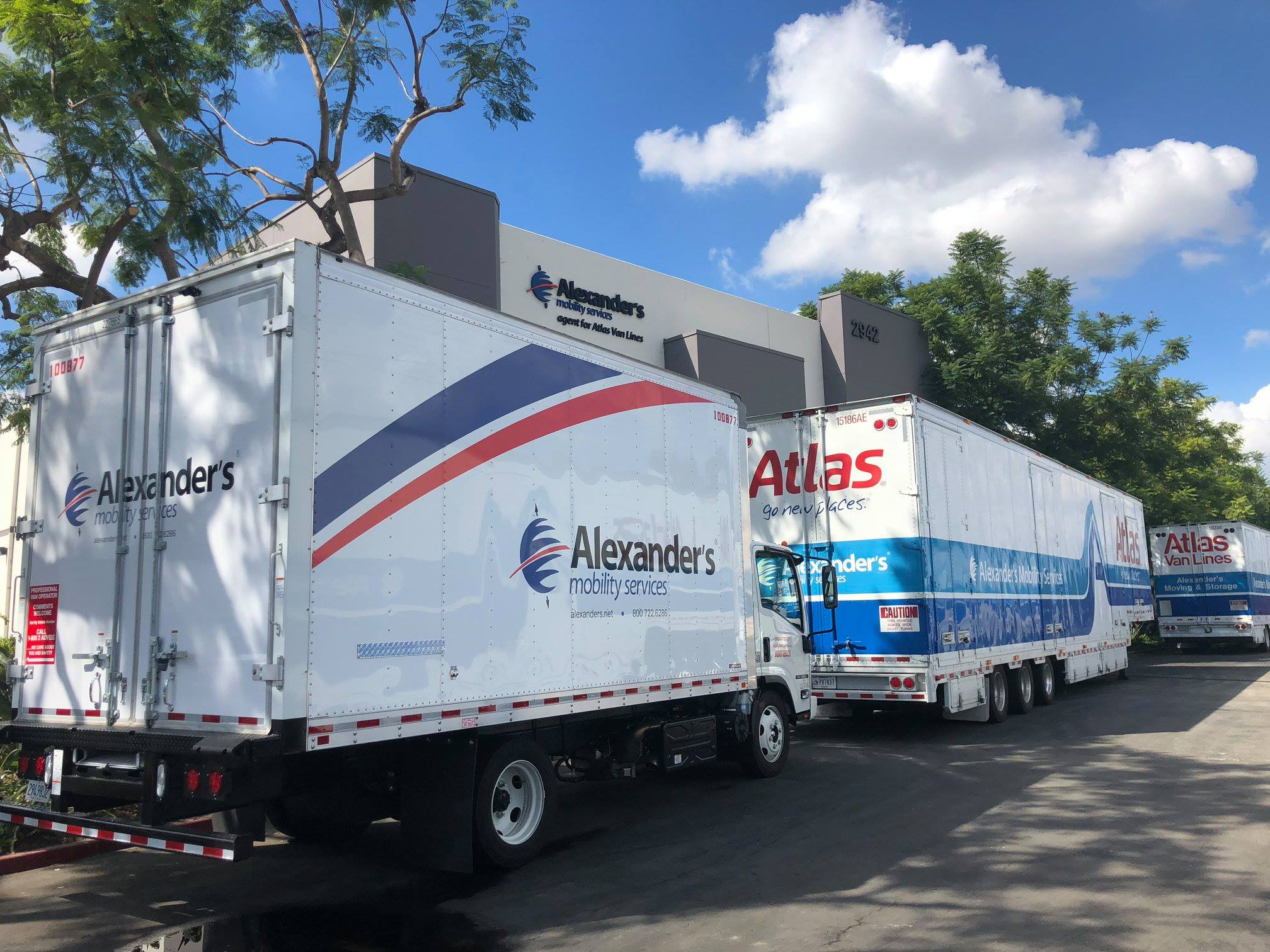Alexander's Moving Services Trucks