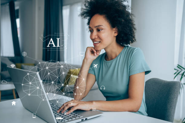 woman learning about AI