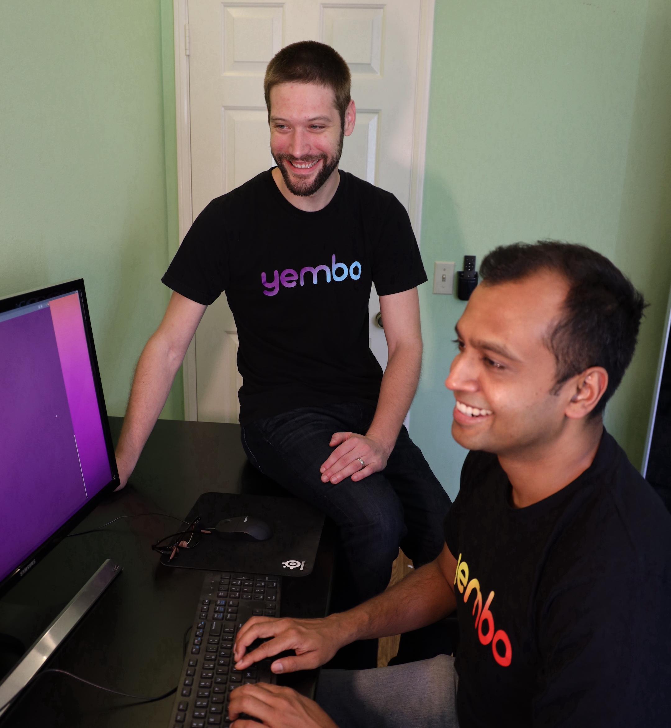 Yembo Staff on computer