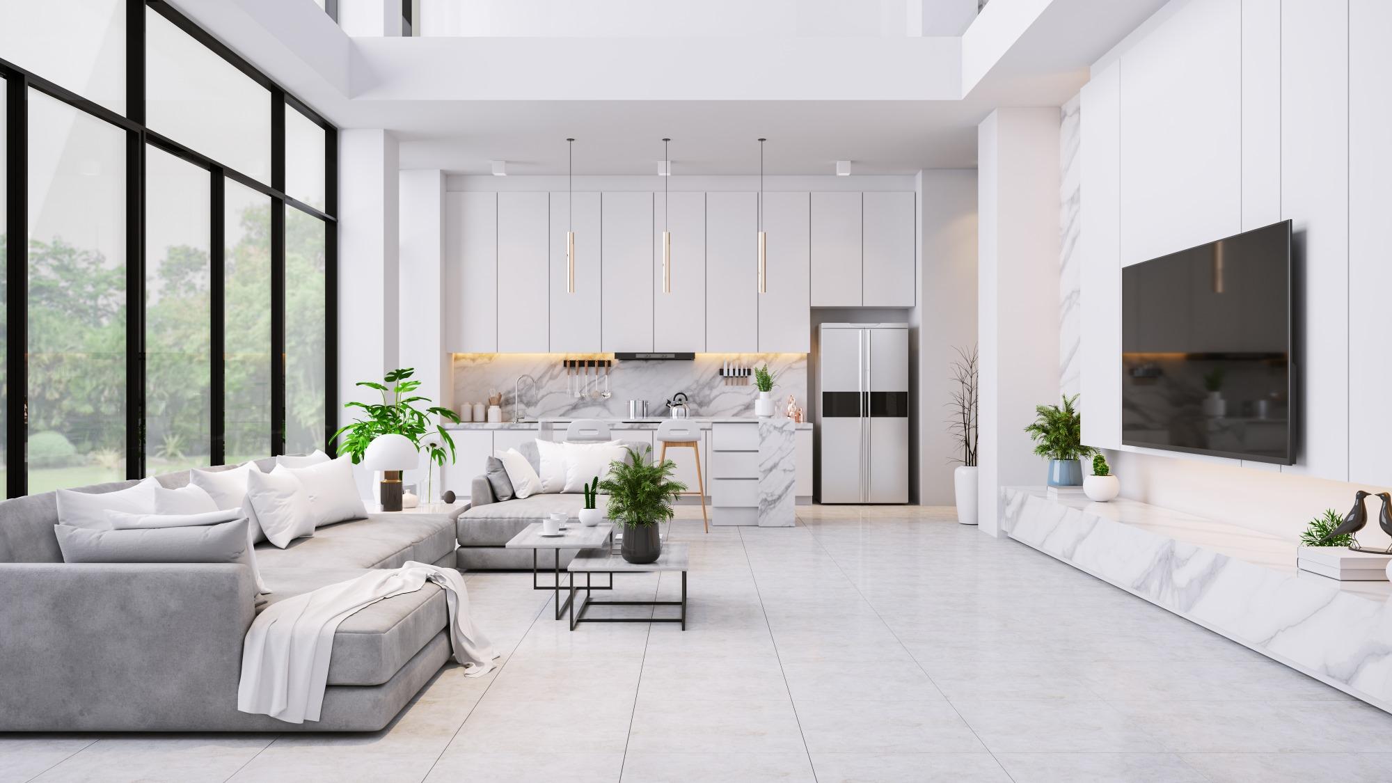 a very white room