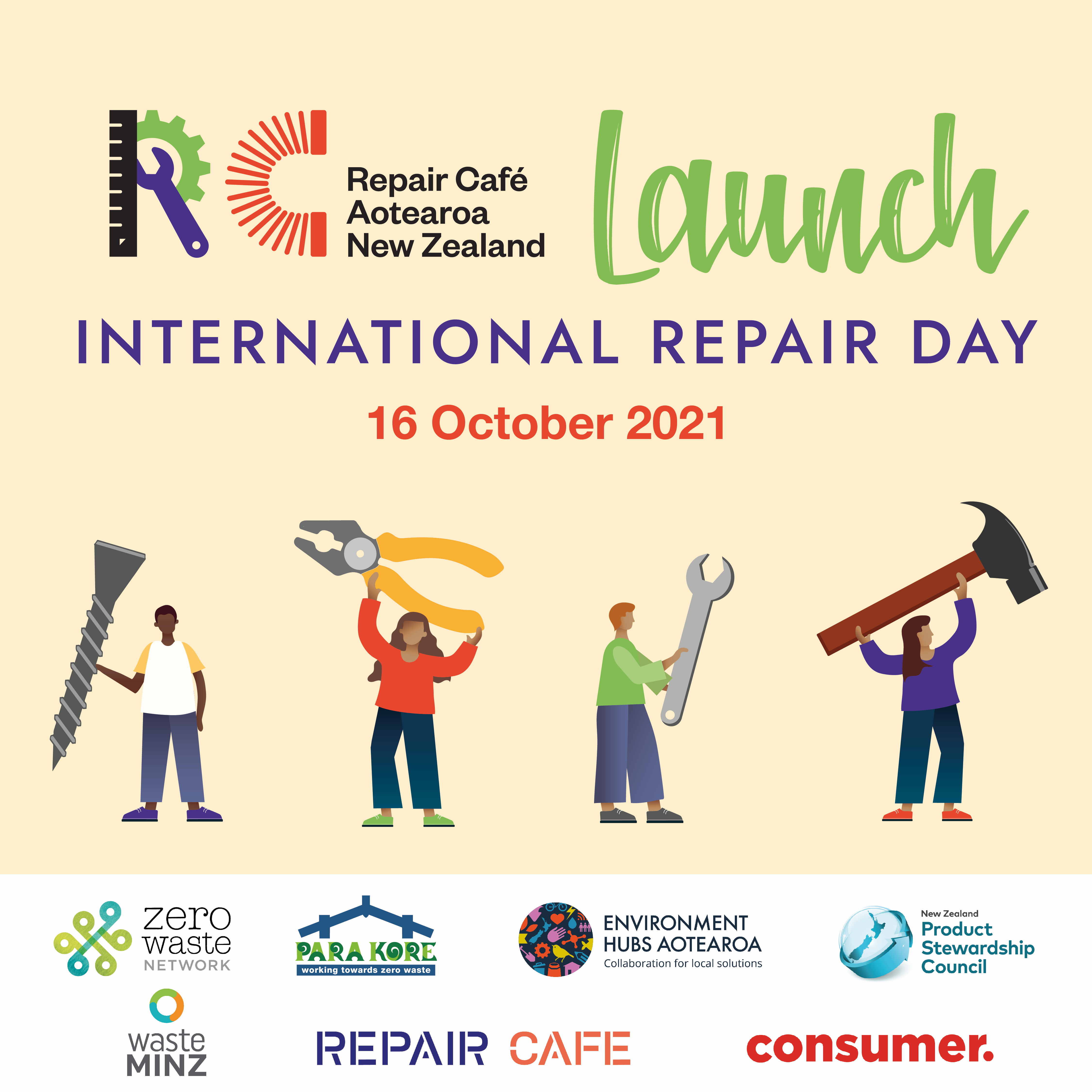 Repair Café Aotearoa New Zealand   International Repair Day