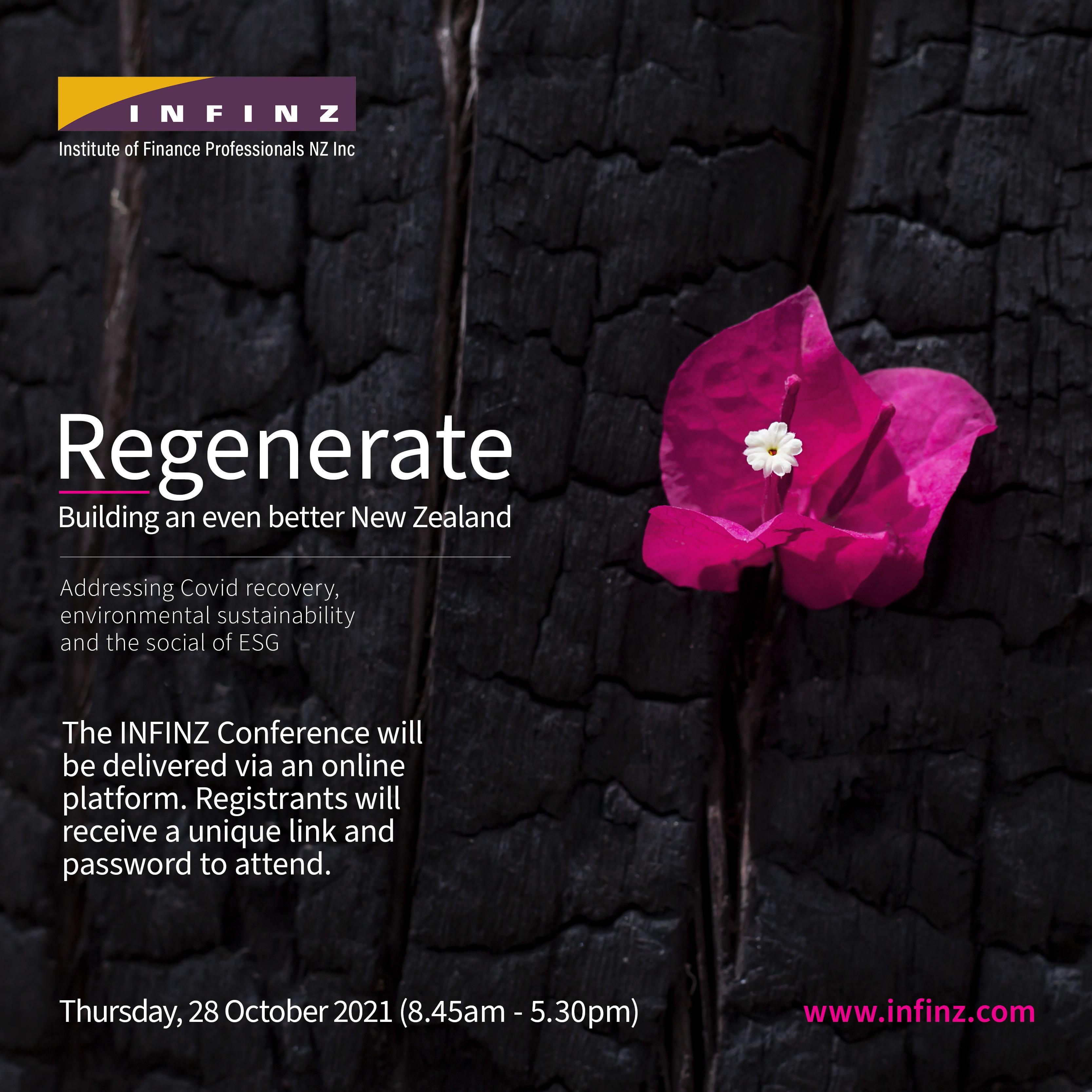 INFINZ Conference 2021 - Regenerate: Building an even better New Zealand