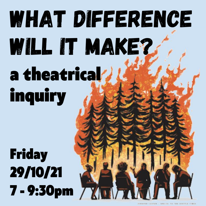 What difference will it make? A theatrical inquiry