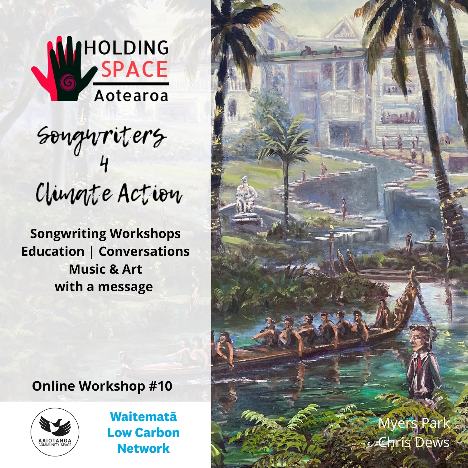 Songwriters 4 Climate Action workshop #10 with Aaiotanga