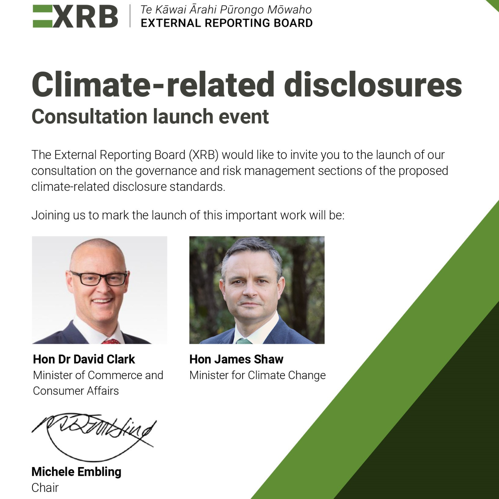 Climate-related disclosures: Consultation launch event