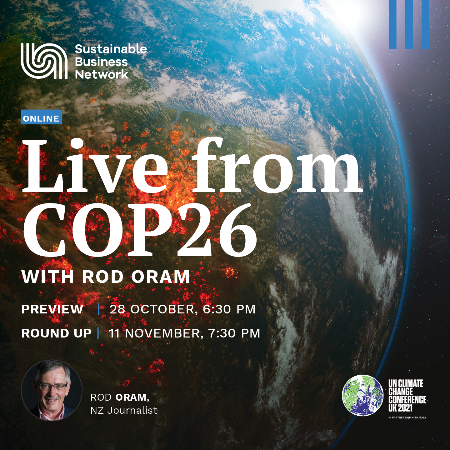 Live from COP26 with Rod Oram (preview)