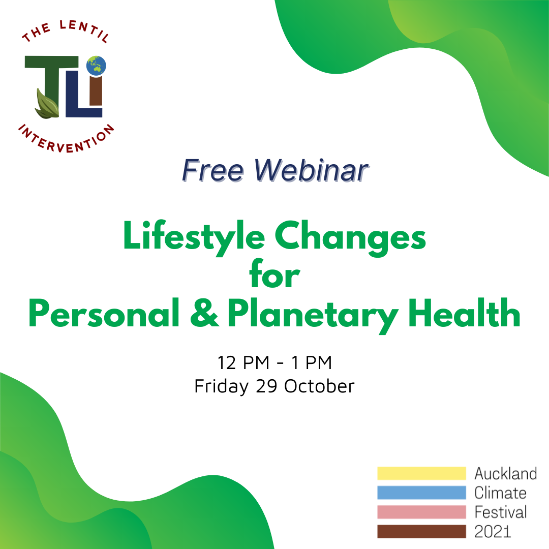 Free Webinar: Lifestyle Changes for Personal and Planetary Health
