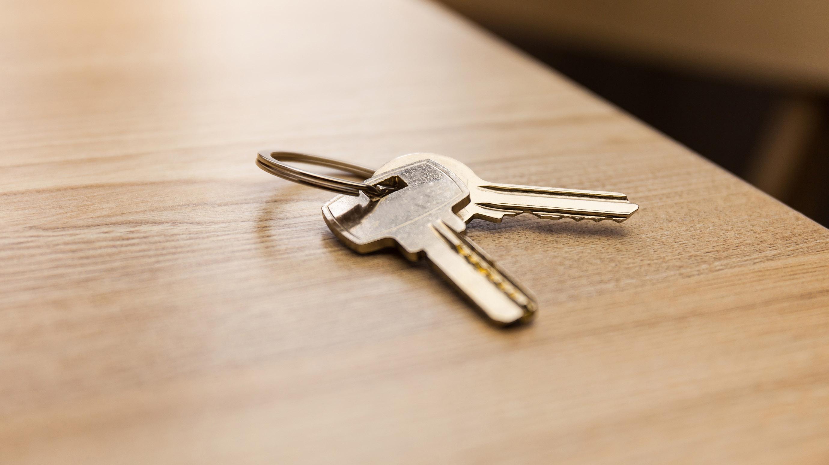Illinois Rental Assistance Program - house keys on a table