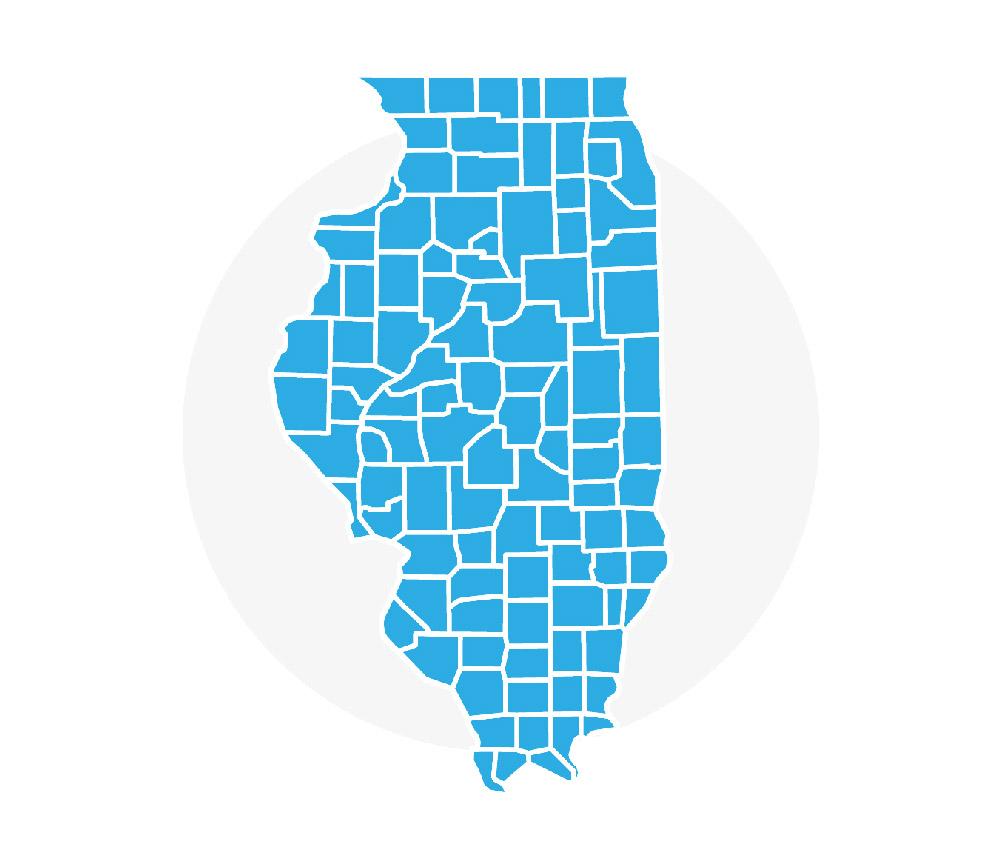 Illinois Rental Assistance Program - Illinois map