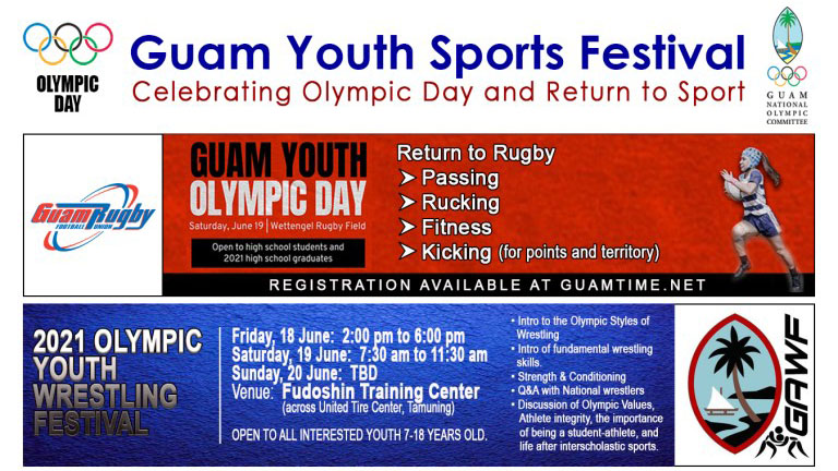 Guam Youth Sports Festival celebrating Olympic Day and Return to Sport