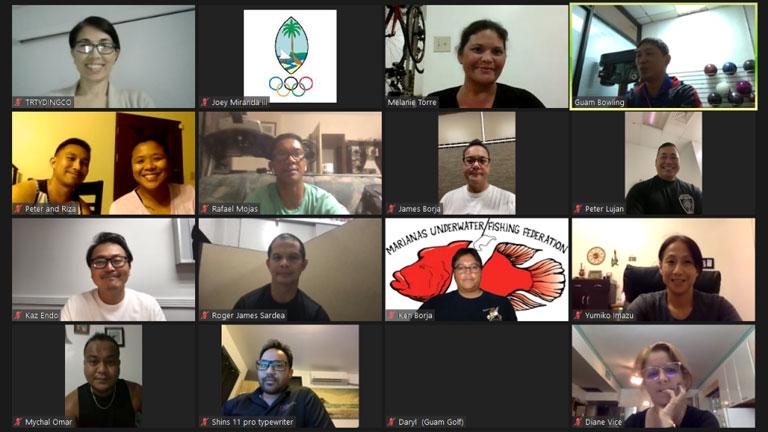 Team Guam begin preparation for upcoming Games via virtual OSEP Team Manager Course