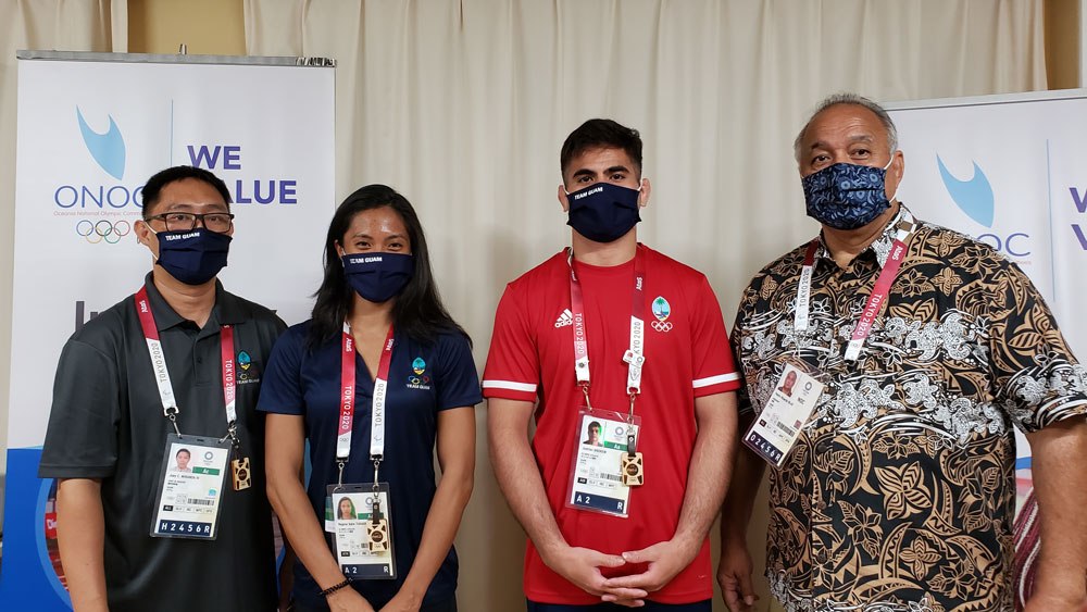 Andrew and Tugade named Guam flag bearers for Tokyo2020 Opening Ceremony