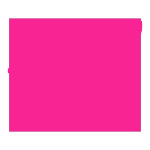 pink telegram icon