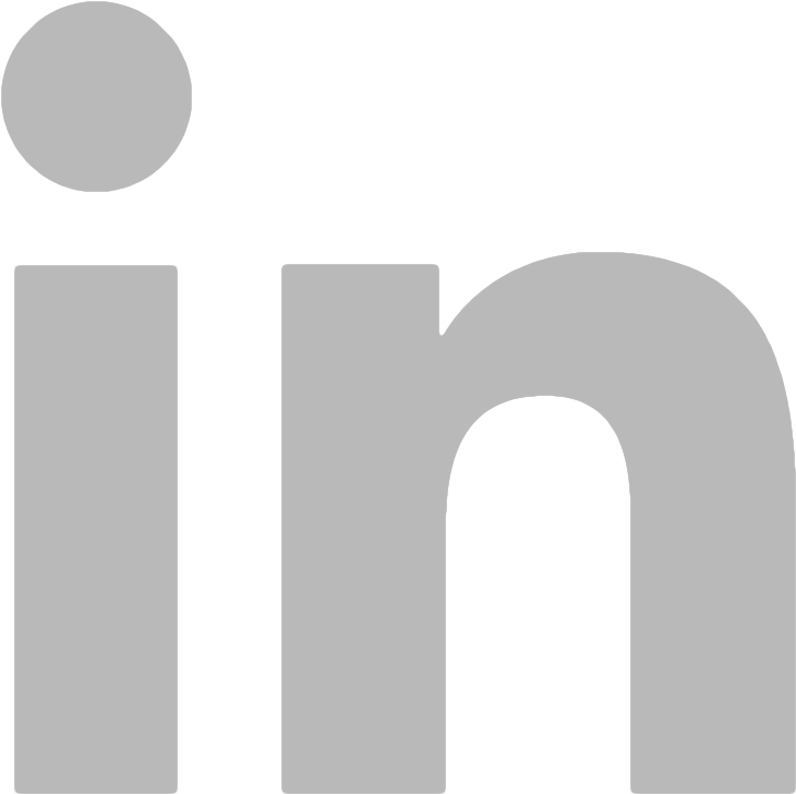 linkedin icon gray