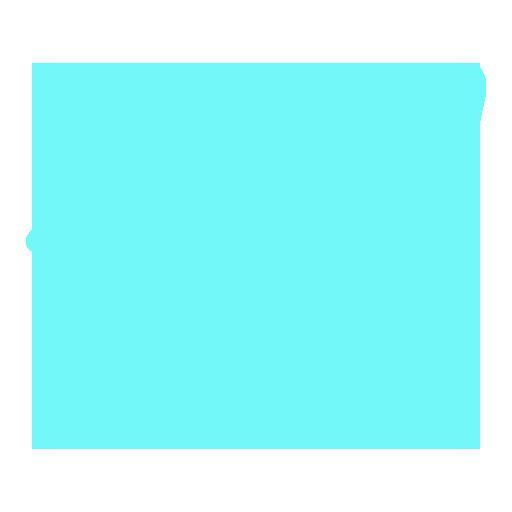 aqua telegram icon