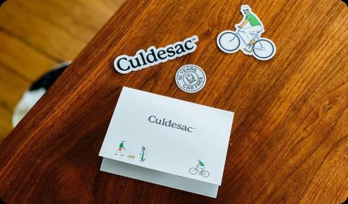 Culdesac car free stickers