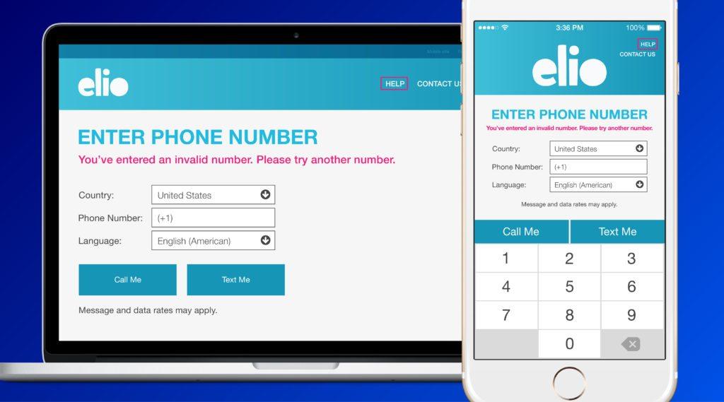 elio app phone verification