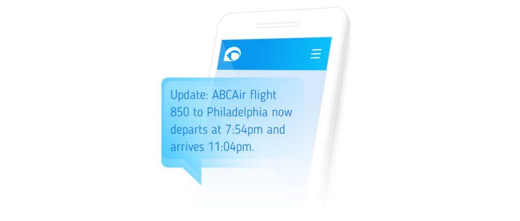 flight sms notification