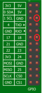 pins to use on pi board